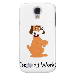 Begging Cartoon Puppy Samsung Galaxy S4 Cover