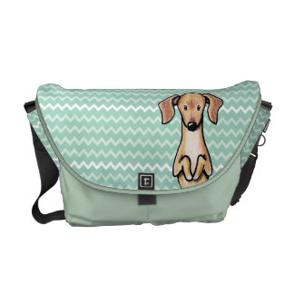 Begging Doxie Chevron Courier Bags