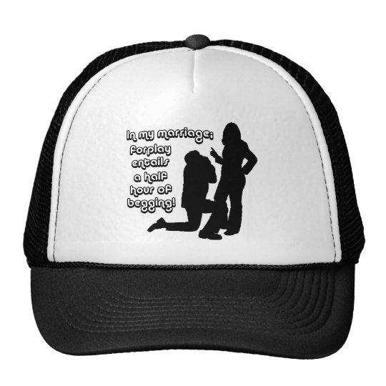 Begging for sex trucker hat