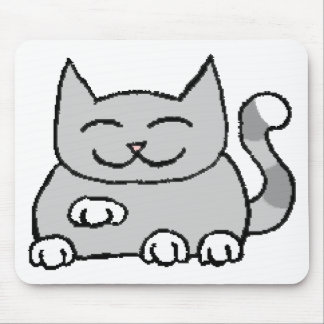 Begging Lucky Cat Mouse Pad