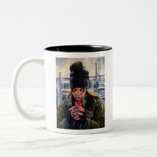 Begging Two-Tone Coffee Mug