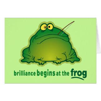Begin At The Frog Funny Orchestra Joke Card