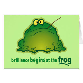 Begin At The Frog Funny Orchestra Joke Cards