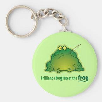 Begin At The Frog Funny Orchestra Joke Keychain