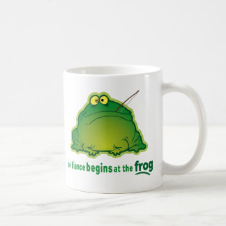 Begin At The Frog Funny Orchestra Joke Classic White Coffee Mug