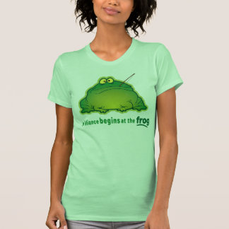 Begin At The Frog Funny Orchestra Joke T-shirt