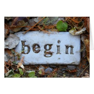 """Begin"" Garden Stone"