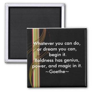 Begin-Goethe-Motivational Magnets