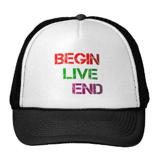 begin live end trucker hat