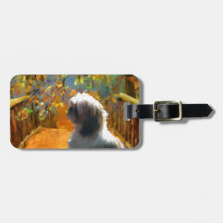 begin our real journey_Painting.jpg Luggage Tag
