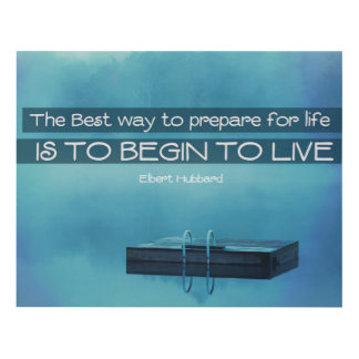 Begin To Live Panel Wall Art