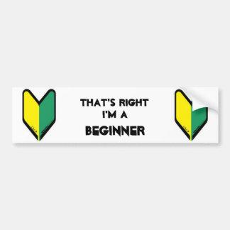 Beginner Driver Bumper Sticker