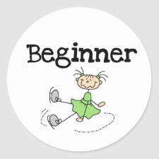 Beginner Ice Skater Sticker