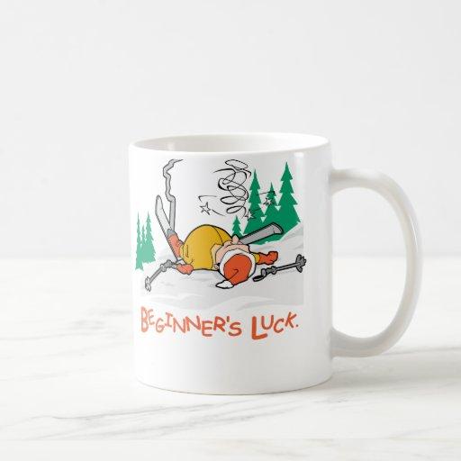 Beginner's Luck Classic White Coffee Mug