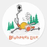 Beginner's Luck Round Stickers