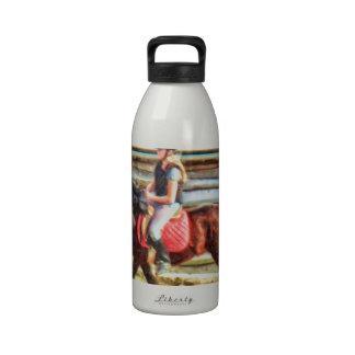 Beginning Horseback Rider by Shawna Mac Reusable Water Bottles