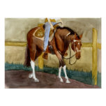 Beginning Lessons Paint Horse Western Pleasure Poster