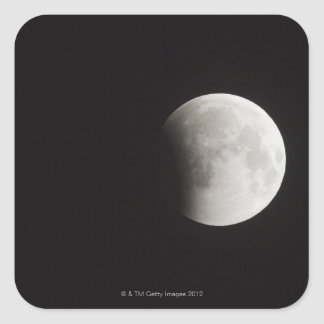Beginning of a Total Eclipse of the Moon Square Sticker