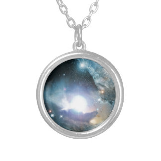Beginning Of The Universe Round Pendant Necklace