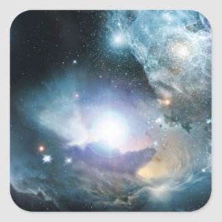 Beginning Of The Universe Square Sticker