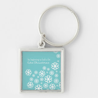Beginning to Look a Lot like Christmas | Blue Keychain