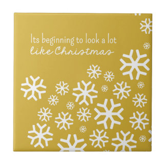 Beginning to Look a Lot like Christmas | Gold Tile