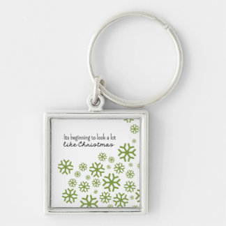 Beginning to Look a Lot like Christmas | Green Keychain