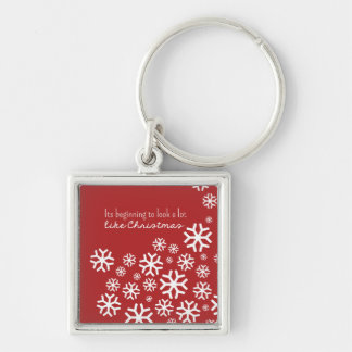 Beginning to Look a lot like Christmas | Red Keychain
