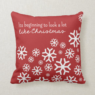 Beginning to Look a Lot Like Christmas | Red Pillows