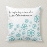 Beginning to Look a Lot Like Christmas | White/Blu Pillows