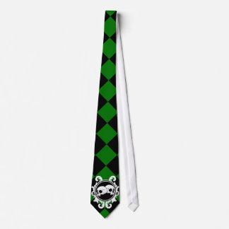 Begird el lazo (verde) del ébano corbatas personalizadas