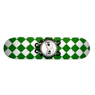 Begird Ivory (Green) Skateboard Deck