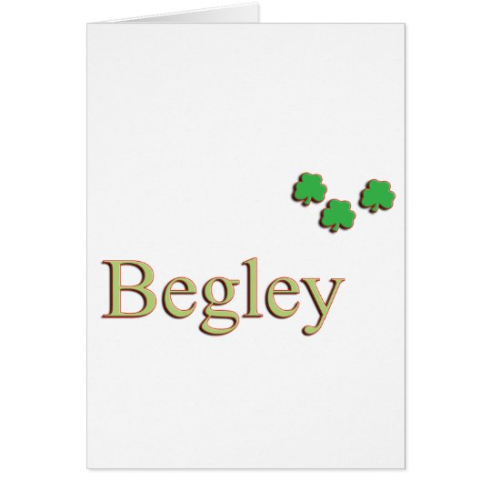 Begley Family Name Card