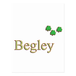 Begley Family Name Postcard