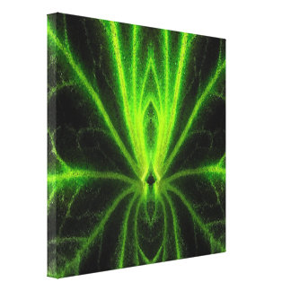Begonia Leaf Abstract Canvas Print