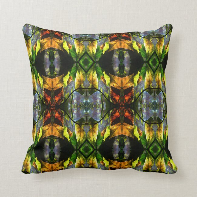 Begonia Leaf Abstract Pattern Throw Pillow