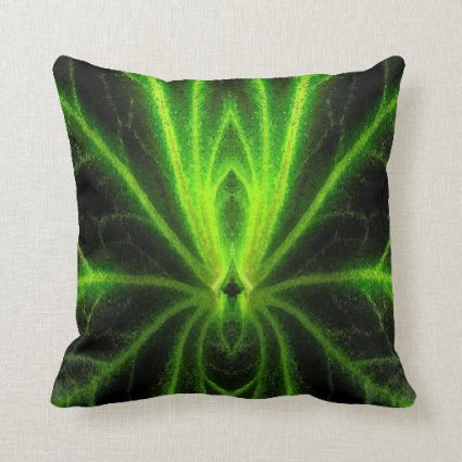 Begonia Leaf Abstract Throw Pillow