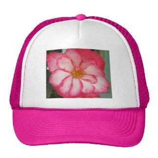 Begonia Red White Flower Bloom Trucker Hat