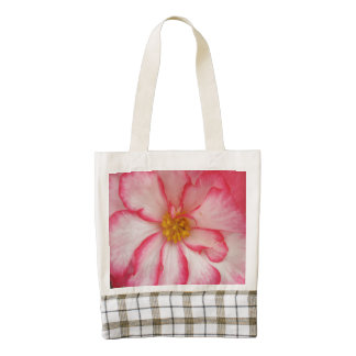 Begonia Red White Flower Bloom Zazzle HEART Tote Bag