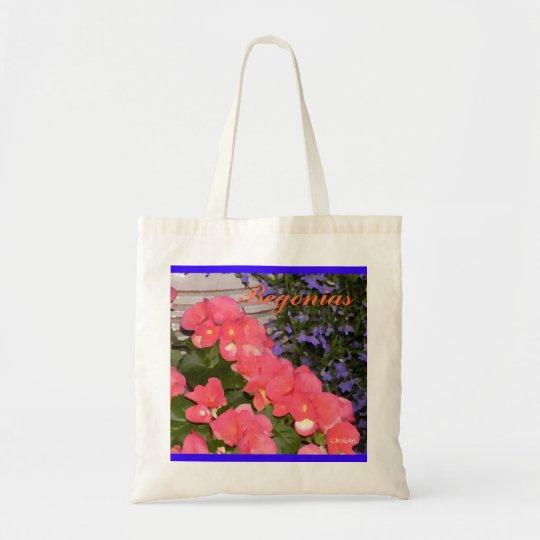 """Begonias Blue"" Budget Bag"