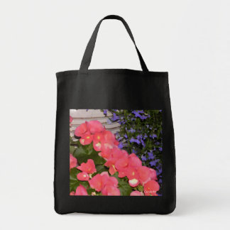"""Begonias Blue"" Grocery/Wine Bag"