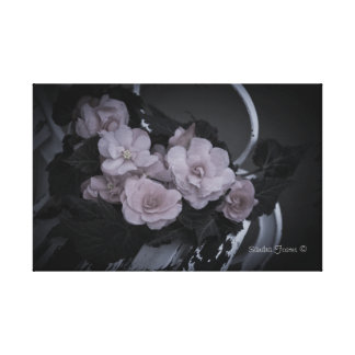 Begonias en lona de la galería de la escena del ja impresion de lienzo