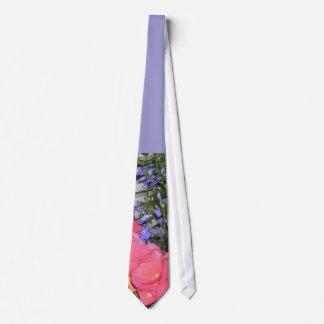 """""""Begonias rosadas azules"""" casando el lazo Corbata Personalizada"""