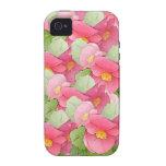 Begonias rosadas iPhone 4 fundas