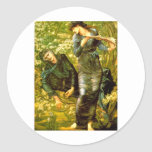 Beguiling of Merlin ~ Burne-Jones 1874 Painting Classic Round Sticker