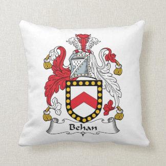 Behan Family Crest Throw Pillow