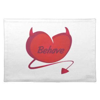 Behave Devil Heart Cloth Placemat