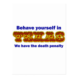 Behave yourself in Texas Postcard