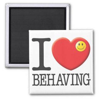 Behaving 2 Inch Square Magnet