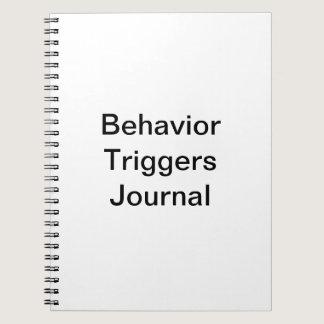 Behavior Triggers Journal/ Spiral Notebook